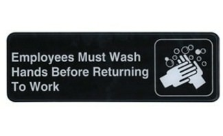 "3x9 ""Employees Must Wash Hands"" Sign"