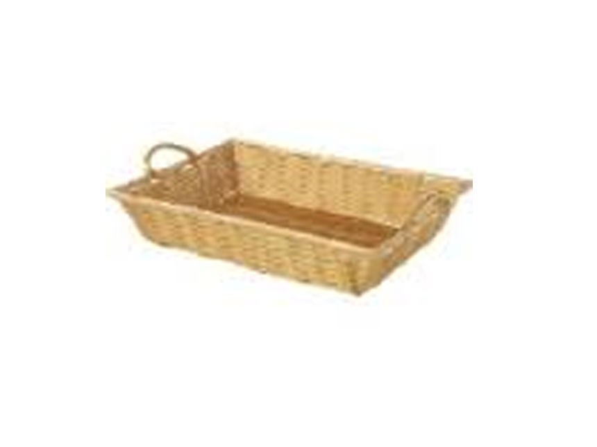 17x13 Rect Rattan Tray W Handle