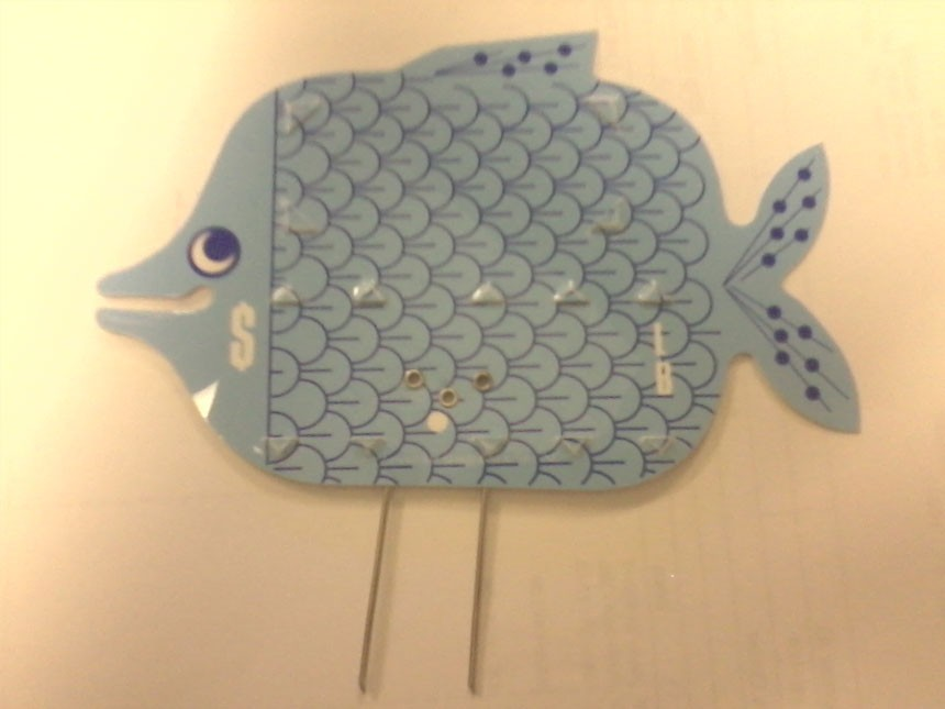 Fish Tag-Blue with Pins