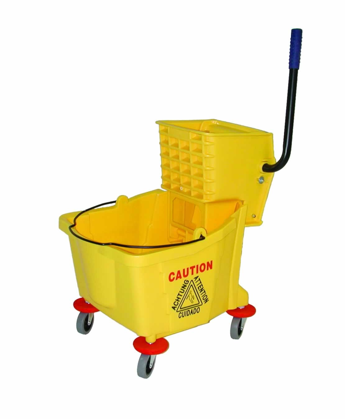 Mop Bucket w/Wringer Yellow 36QT.