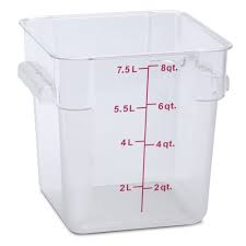 8 Qt. Square Food Storage Container, Clear