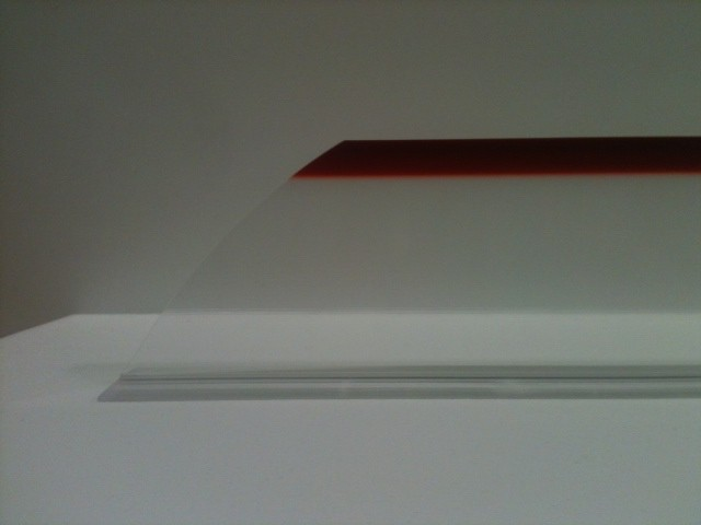 """3""""x14"""" Clear Red Tip Divider, Angled"""