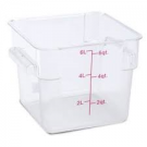 6 Qt. Square Food Storage Container, Clear