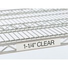 "55""x1-1/4"" Clear Label Holder for Wire Shelf"